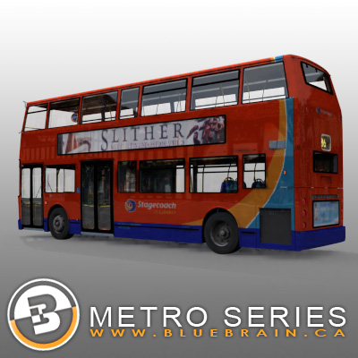 3D Model of Highly detailed London Bus. - 3D Render 3