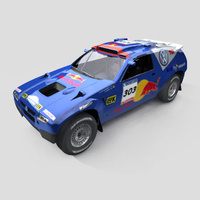 3D Model Download - Race Car - 2006 VW Dakar