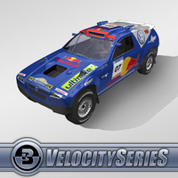3D Model Download - Race Car - 2007 VW Dakar