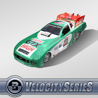 3D Model Download - Race Car - 2007 NHRA