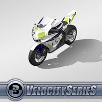3D Model Download - Race Bike - 2007 SuperBike