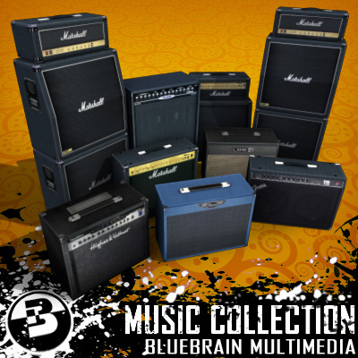 3D Model - Guitar Amp Collection