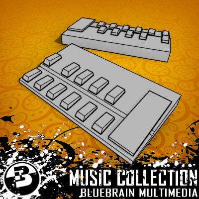 3D Model of Game-ready low polygon collection of guitar FX pedals - 3D Render 13