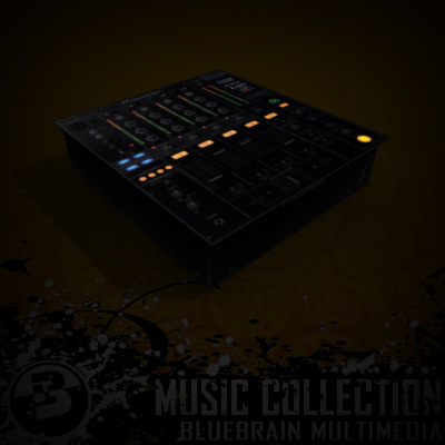 3D Model of Game-ready low polygon DJ Gear - 3D Render 3