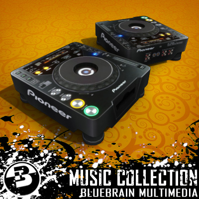 3D Model of Game-ready low polygon collection of DJ Gear models - 3D Render 1