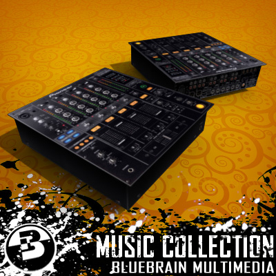 3D Model of Game-ready low polygon collection of DJ Gear models - 3D Render 2
