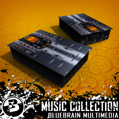 3D Model of Game-ready low polygon collection of DJ Gear models - 3D Render 3