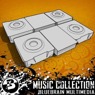 3D Model of Game-ready low polygon collection of DJ Gear models - 3D Render 4