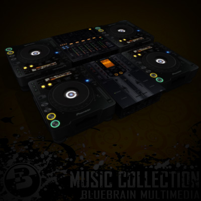 3D Model of Game-ready low polygon collection of DJ Gear models - 3D Render 5