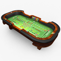 Preview image for 3D product Casino Craps Table - Green