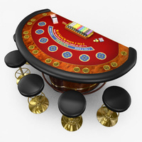 Preview image for 3D product Casino Blackjack Table - Red