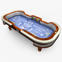 Preview image for 3D product Casino Craps Table - Blue