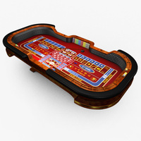 Preview image for 3D product Casino Craps Table - Red