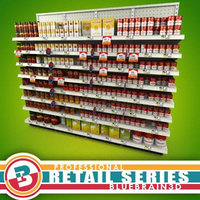 3D Model Download - Grocery Shelves - Soup - 01