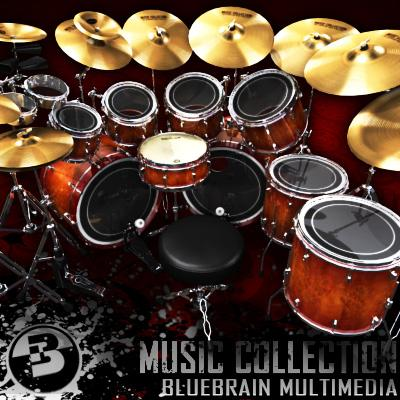 3D Model of Game-ready low polygon drum kit - beautiful, accurate and ready to rock. - 3D Render 1