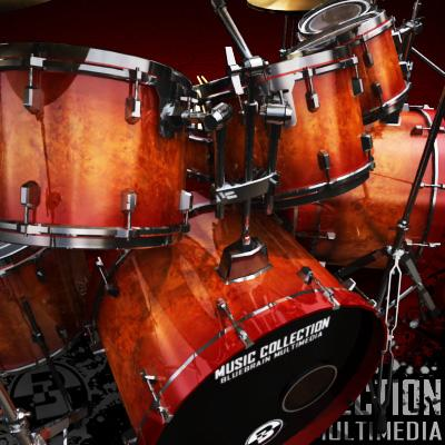 3D Model of Game-ready low polygon drum kit - beautiful, accurate and ready to rock. - 3D Render 4