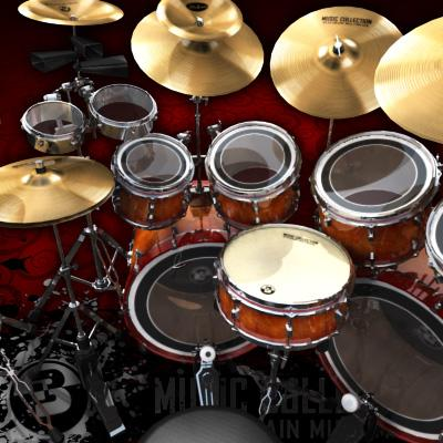 3D Model of Game-ready low polygon drum kit - beautiful, accurate and ready to rock. - 3D Render 5