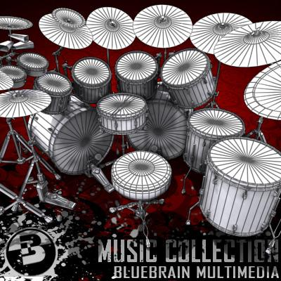 3D Model of Game-ready low polygon drum kit - beautiful, accurate and ready to rock. - 3D Render 15