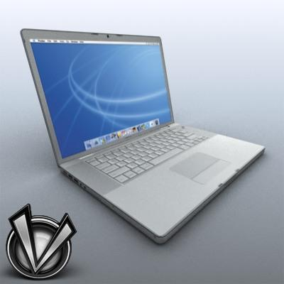 3D Model of Low-Poly, Game-Ready MacBookPro 17' - 3D Render 0