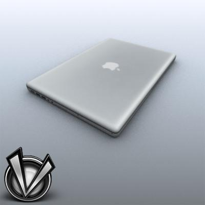 3D Model of Low-Poly, Game-Ready MacBookPro 17' - 3D Render 1