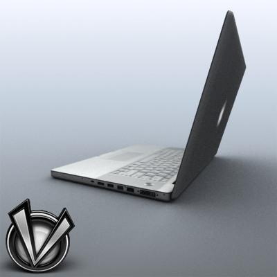 3D Model of Low-Poly, Game-Ready MacBookPro 17' - 3D Render 3