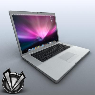 3D Model of Low-Poly, Game-Ready MacBookPro 17' - 3D Render 4