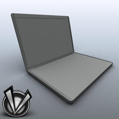 3D Model of Low-Poly, Game-Ready MacBookPro 17' - 3D Render 7