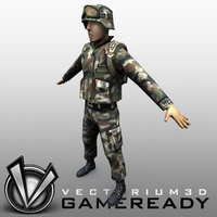3D Model Download - US Military - Soldier 03