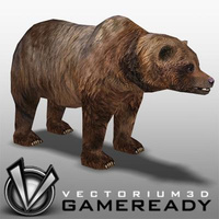 3D Model Download - Low Poly Animals - Bear