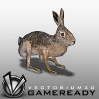 3D Model Download - Low Poly Animals - Hare