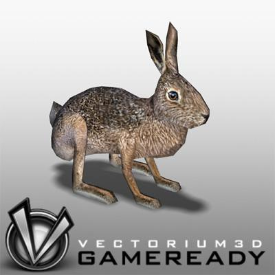 3D Models - Low Poly Animals - Hare