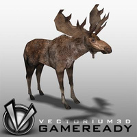 3D Model Download - Low Poly Animals - Moose