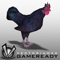 3D Model Download - Low Poly Animals - Rooster