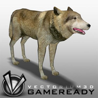 3D Model Download - Low Poly Animals - Wolf
