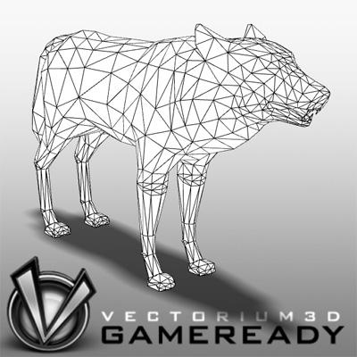 3D Model of Low Poly Game Ready Animals -  - 3D Render 2