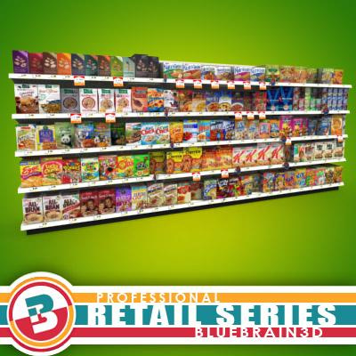 3D Model - Grocery Shelves - Cereal