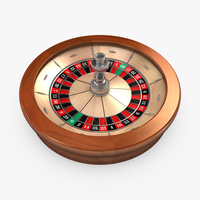 Preview image for 3D product Roulette Wheel 01 - American