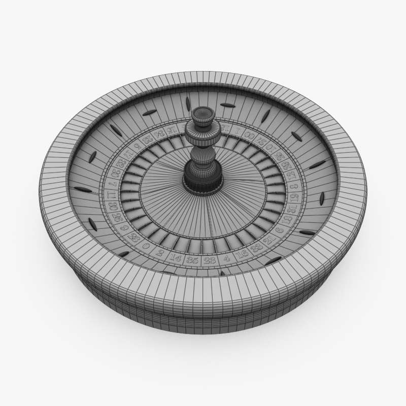3D Model of High Detail American Roulette Wheel - Animated - 3D Render 2