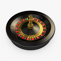 Preview image for 3D product Roulette Wheel 02 - European