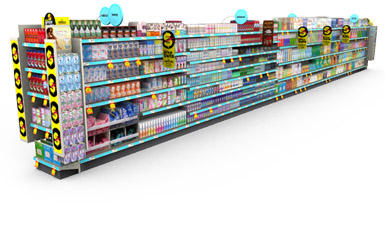 3D kitchen aisle model