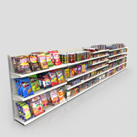 3D Model Download - Grocery - Grocery Shelves