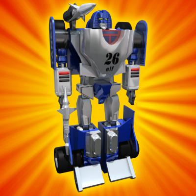 3D Model of Transforming Robot Toy - 3D Render 1