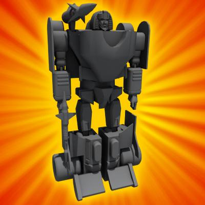 3D Model of Transforming Robot Toy - 3D Render 3