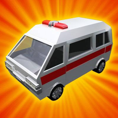 3D Model of Transforming Robot Toy Ambulance - 3D Render 2