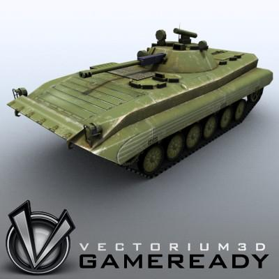3D Model of Low-poly Soviet AFV BMP-2 - 3D Render 0