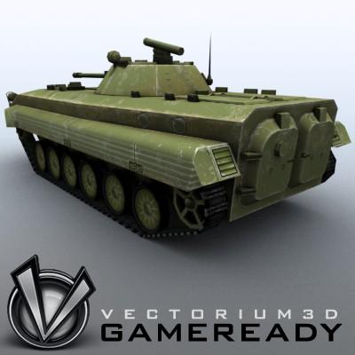 3D Model of Low-poly Soviet AFV BMP-2 - 3D Render 1