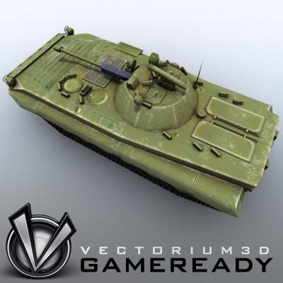 3D Model of Low-poly Soviet AFV BMP-2 - 3D Render 2