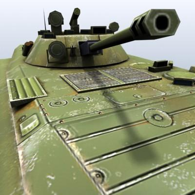 3D Model of Low-poly Soviet AFV BMP-2 - 3D Render 7