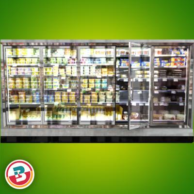 3D Model of Grocery Store Freezer Wall - 3D Render 1