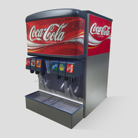 3D Model Download - Grocery - Soda Machine - 6 Flavour